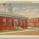 WAREHAM, MASS/MA POSTCARD, Post Office/Makepeace Buildg