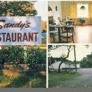 SANDWICH, MASS/MA POSTCARD, Sandy's Restaurant, Rte 6A