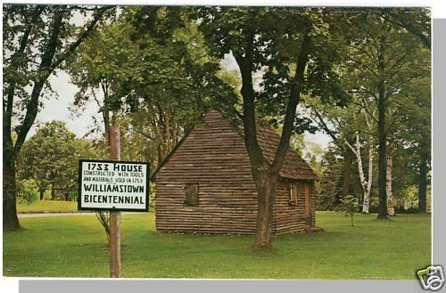 Nice WILLIAMSTOWN, MASS/MA POSTCARD,1753 Historic House