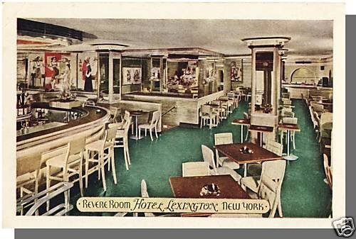 HOTEL LEXINGTON, NEW YORK/NY POSTCARD, Revere Room