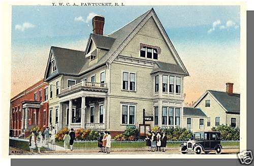 Early PAWTUCKET, RHODE ISLAND/RI POSTCARD, YWCA