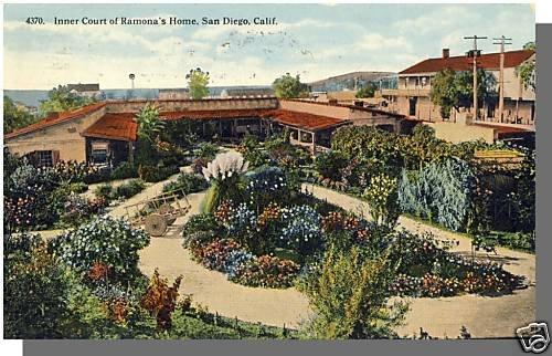 Early SAN DIEGO CALIF/CA POSTCARD, Ramona's Home, 1915!