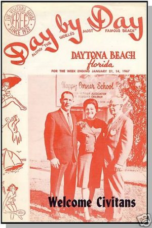 DAYTONA BEACH, FLORIDA/FL,1967 Day By Day Guide Booklet