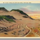 Nice CAPE COD, MASS/MA POSTCARD, Wagon Wheels On Dunes