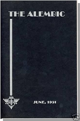 THE ALEMBIC, 6/1951,PROVIDENCE COLLEGE, Rhode Island/RI