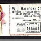 1949 EARL MORAN CALENDAR, INK BLOTTER, Providence,RI