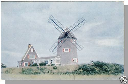 Quaint BREWSTER, MASS/MA POSTCARD, Windmill, Cape Cod