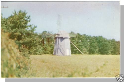 Nice WEST HARWICH, MASS/MA POSTCARD, Windmill, Cape Cod