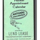 1963 LAND LEASE TRANSPORTATION C0 CALENDAR, Omaha, NE