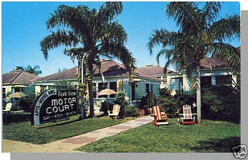 ST. PETERSBURG, FLORIDA/FL POSTCARD,Park View Motor Crt