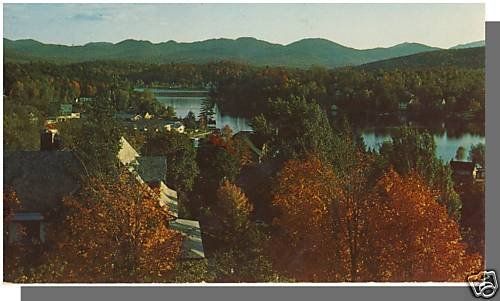 LAKE SARNAC, NEW YORK/NYPOSTCARD, View Of Lake Flower