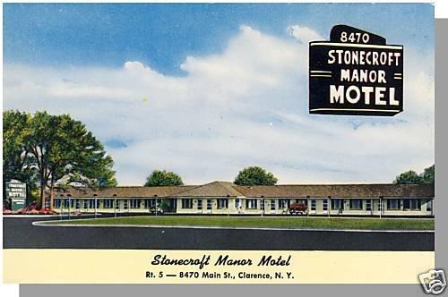 CLARENCE, NEW YORK/NY POSTCARD, Stonecroft Manor Motel