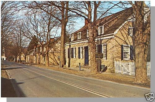 Striking HURLEY, NEW YORK/NY POSTCARD, Old Stone Houses