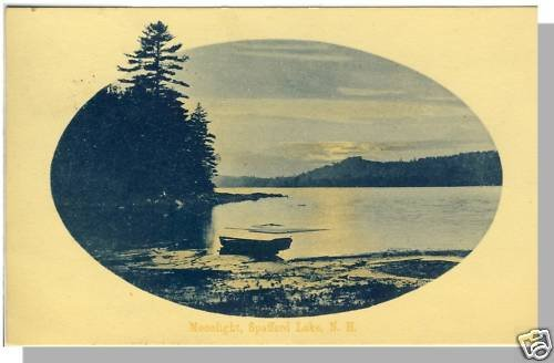 NEW HAMPSHIRE/NH POSTCARD, Moonlight on Spofford Lake
