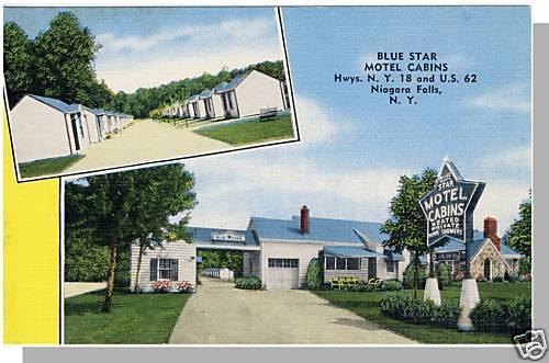 NEW YORK/NY POSTCARD, Niagara Falls, Blue Star Motel