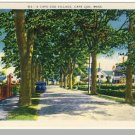 Striking CAPE COD, MASS/MA POSTCARD, Village, 1940's?