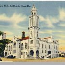 MIAMI, FLORIDA/FL POSTCARD,White Temple Methdist Church