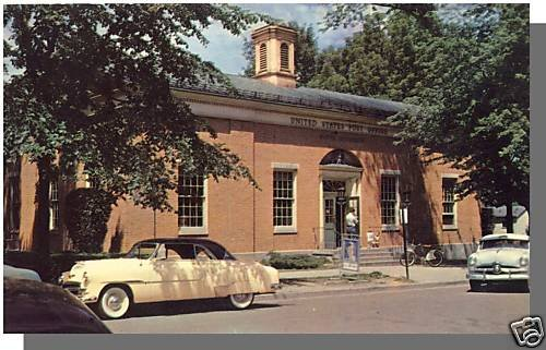 Vivid WAYNE, MICHIGAN/MI POSTCARD, Post Office, 1950's?