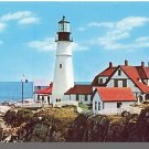 Vivid CASCO BAY, MAINE/ME POSTCARD, Portland Head Light