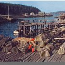 Beautiful MAINE/ME POSTCARD,Maine Fishing Village/Traps
