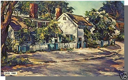 KENNEBUNKPORT, MAINE/ME POSTCARD,Roger Deering Painting