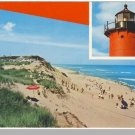 EASTHAM, MASS/MA POSTCARD, Nauset Light/Beach, Cape Cod