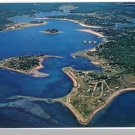 ONSET, MASS/MA POSTCARD,Village & Beach/Cape Cod/Aerial