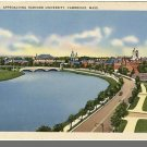 Nice CAMBRIDGE, MASS/MA POSTCARD, Harvard/Charles River