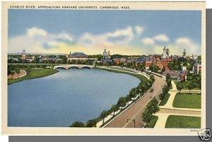 Nice CAMBRIDGE, MASS/MA POSTCARD, Harvard/Charles River
