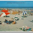 OCEAN GROVE, NEW JERSEY/NJ POSTCARD, Bathers On Beach