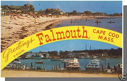FALMOUTH, MASS/MA POSTCARD,  Greetings From Cape Cod