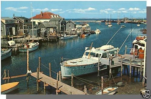 Nice MENEMSHA, MASS/MA POSTCARD, Harbor/Basin, Cape Cod