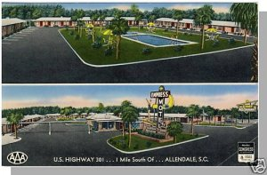 ALLENDALE, SOUTH CAROLINA/SC POSTCARD, Empress Motel