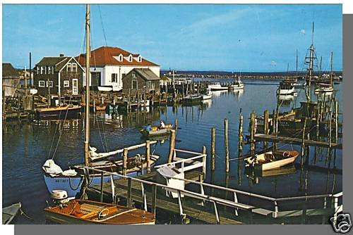 Nice MENEMSHA, MASS/MA POSTCARD, Coast Guard, Cape Cod