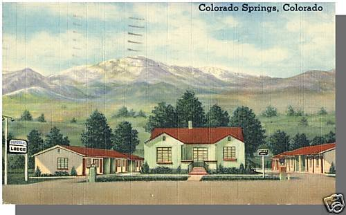 COLORADO SPRINGS, COLORADO/CO POSTCARD, Panorama Lodge