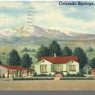 COLORADO SPRINGS, COLORADO/CO POSTCARD, Panorama Lodge