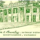 BRATTLEBORO, VERMONT/VT POSTCARD, Town & Country Inn