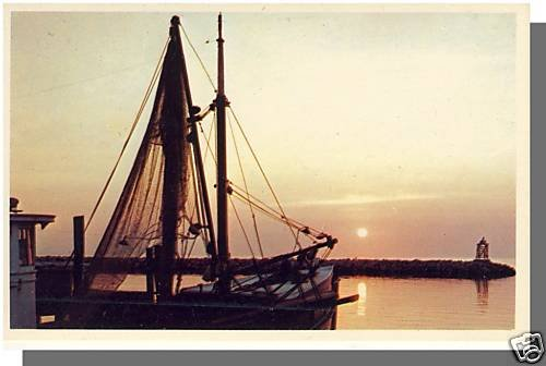 Nice CAPE COD, MASS/MA POSTCARD, Fishing Fleet At Dusk