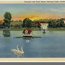 PORTLAND, MAINE/ME POSTCARD, Deerings Oaks Fountain