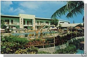 MIAMI, FLORIDA/FL POSTCARD,Vagabond Motel/Biscayne Blvd