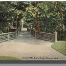 Early PORTLAND, MAINE/ME POSTCARD, Riverton Park/Bridge