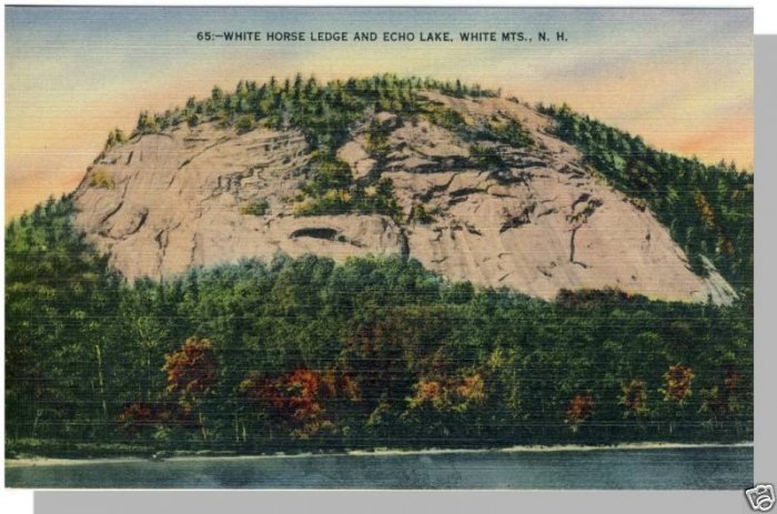 NEW HAMPSHIRE/NH POSTCARD, Echo Lake/White Horse Ledge