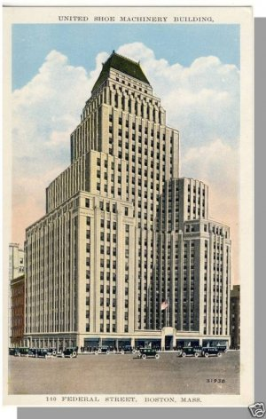 BOSTON, MASS/MA  POSTCARD, United Shoe Machinery Bldg