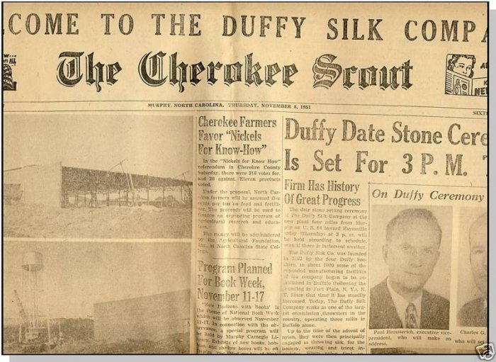 THE CHEROKEE SCOUT NEWSPAPER,1951,Murphy,NC,Lone Ranger