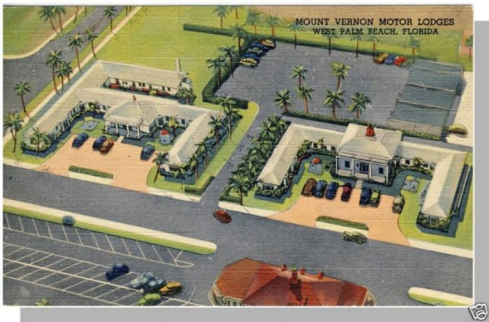 PALM BEACH,FLORIDA/FL POSTCARD,Mount Vernon Motor Lodge