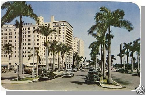 MIAMI, FLORIDA/FL POSTCARD,Biscayne Blvd/Colonial Hotel