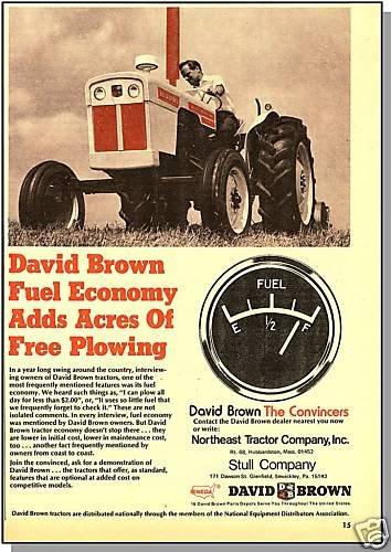 Classic 1971 DAVID BROWN AD, Northeast Tractor Company