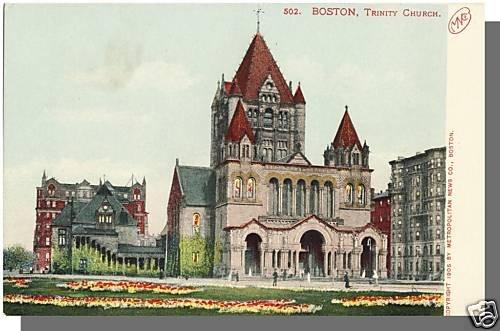 Early BOSTON, MASS/MA POSTCARD, Trinity Church