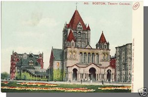 Early BOSTON, MASS/MA POSTCARD, Trinity Church