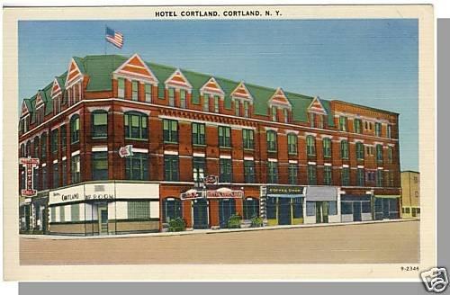 Beautiful CORTLAND, NEW YORK/NY POSTCARD,Hotel Cortland